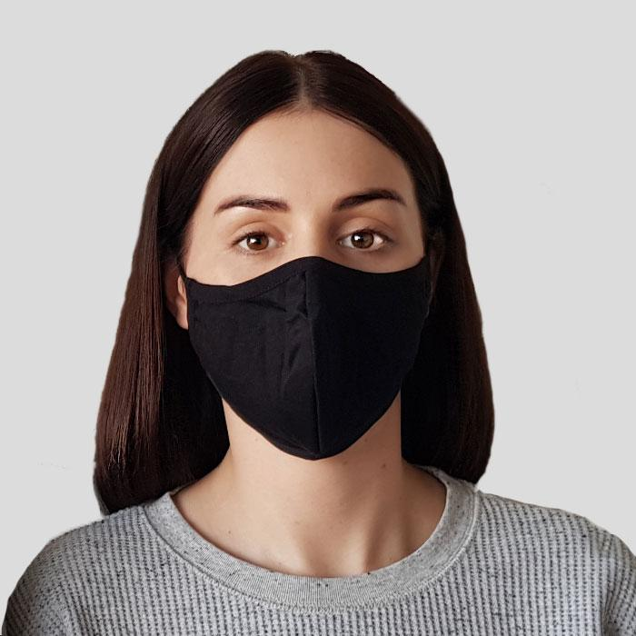 Protective Adult Cloth Face Mask - Black