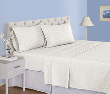 500 Thread Count Pima Cotton Solid& Stripe Sheet Set