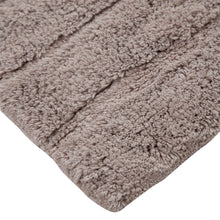 Oversized Stripe Cotton Textured Bath Rug Solid and Stripe Pattern