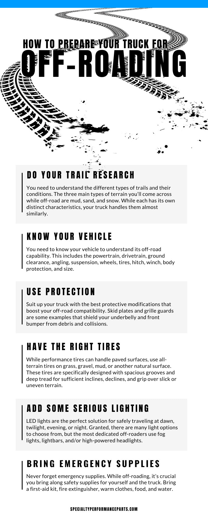 Prepare Truck for Off-Roading Infographic
