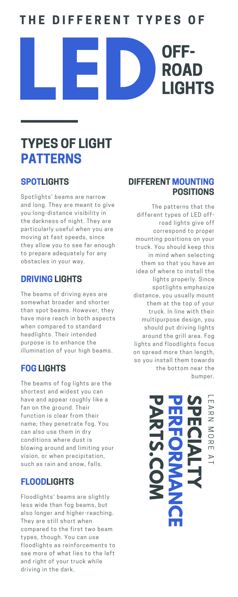 The Different Types of LED Off-Road Lights