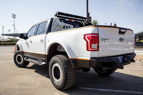 Addictive Desert Designs 2015 - 2019 Ford F-150 HoneyBadger Rear Bumper W/ Backup Sensors