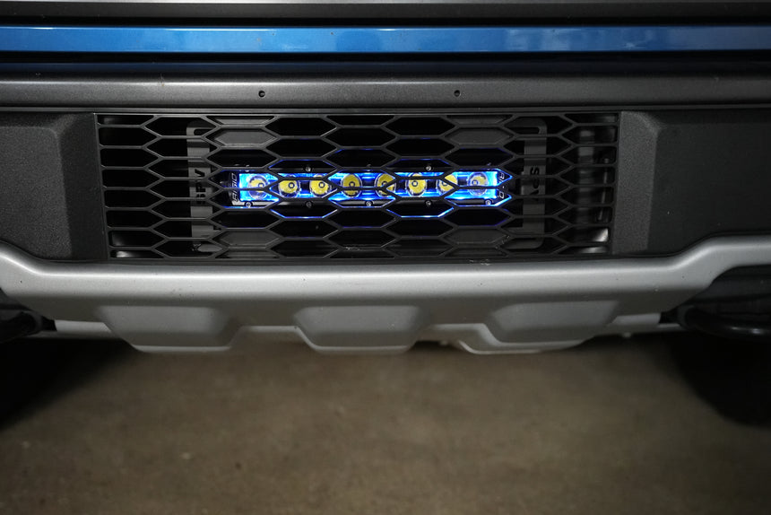 2017-2020 Raptor (SLIM) 10'' LOWER Grille Light Bar Kit LED (Behind Grille)