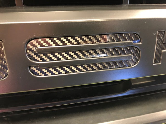 2015-2019 ROUSH F-150 REAL Carbon Fiber Grille Inserts (Does NOT fit 2020)