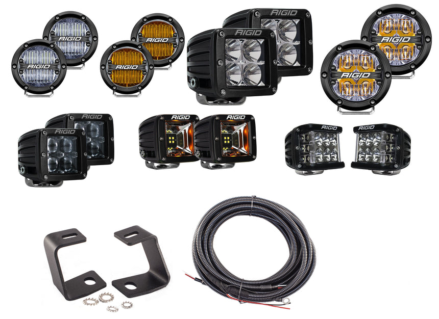 OPEN BOX DEAL! - (With Round 360 Rigid Driving Lights) 2017-2020 Raptor A-Pillar Light Kit by SPV
