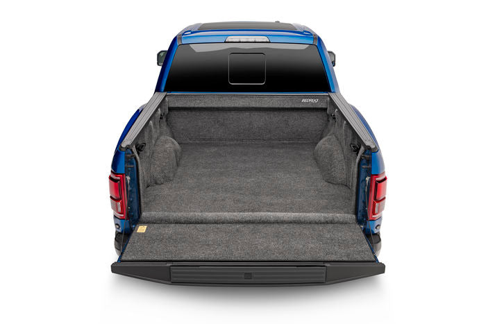 Bed Rug shown in a Raptor bed with open tailgate