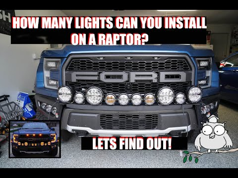 Special Edition MIDNIGHT 2017-2020 Raptor NO DRILL Bumper Mount & 40'' Curved ME SR Light Bar Kit