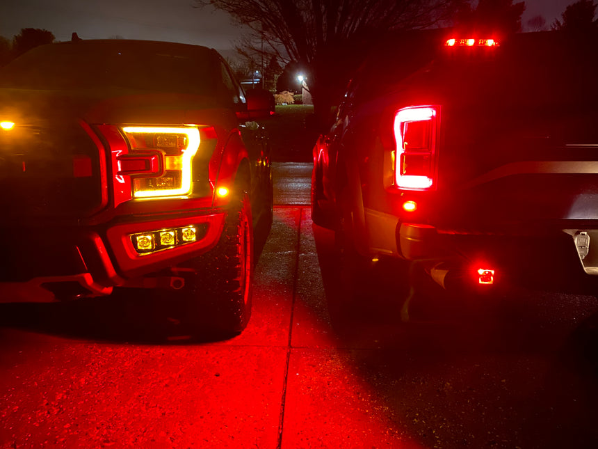 2017-2020 Raptor - Rigid Radiance Fog Amber LED Fog Light Kit Including Brackets