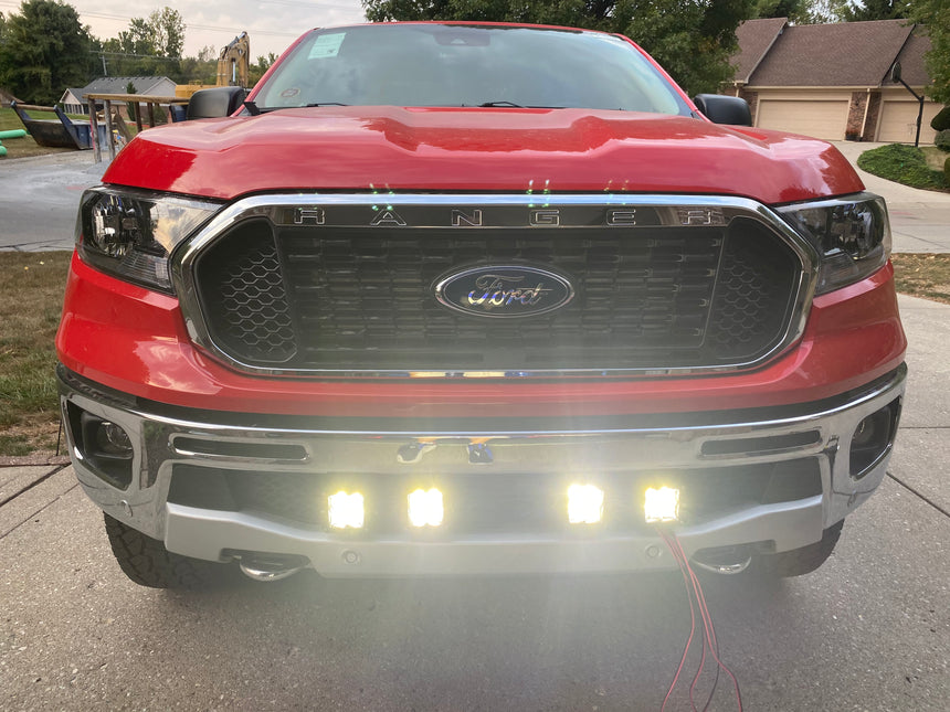 2019-2020 Ford Ranger Lower Bumper Grille Light Kit Rigid Pro D-Series