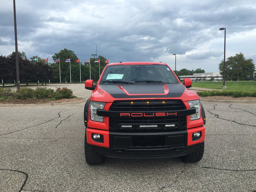 Roush 3 LED Grille Light Kit Mounted inside the Grille