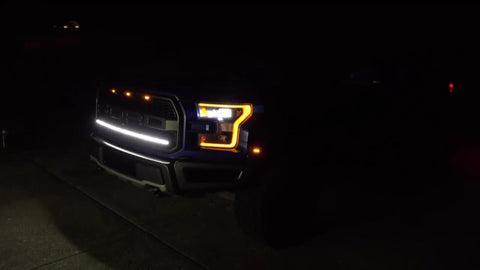 "2017-2019 40"" LED Light Bar Kit for 2017-2019 Raptor at night - Putco Luminix Light Bar"