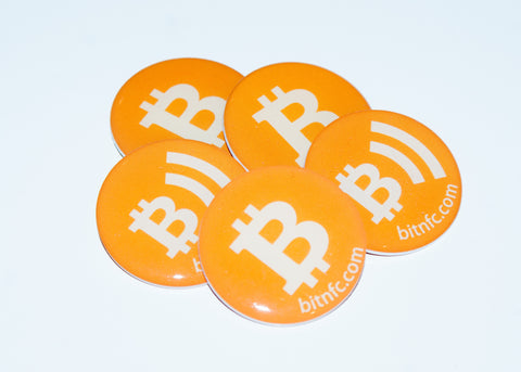 Bitcoin NFC Epoxy Disc 5 Pack