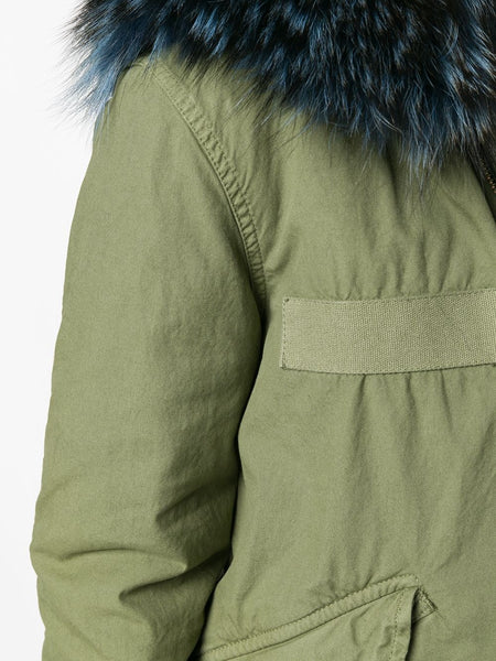 ARMY MINI PARKA WITH COYOTE FUR