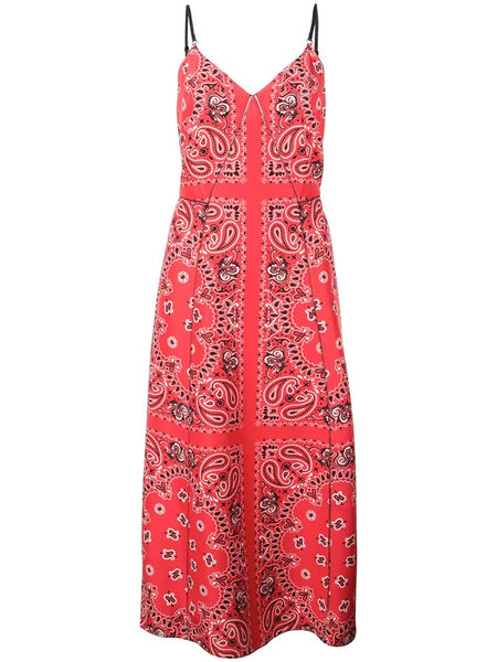PRINTED BANDANA SLIP DRESS