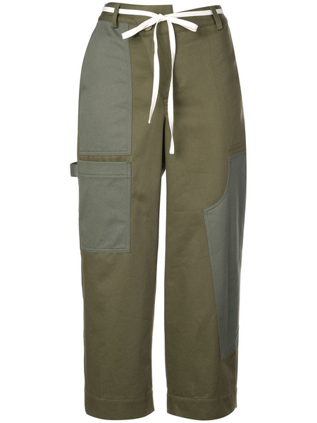 WIDE LEG CARGO PANT OLIVE