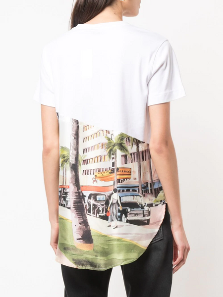KNIT TEE TORN SCENIC SHIRT