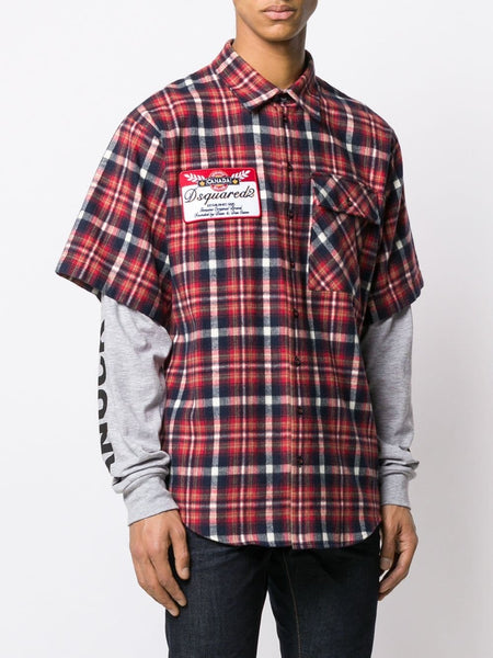 TARTAN PRINTED LAYERED SHIRT