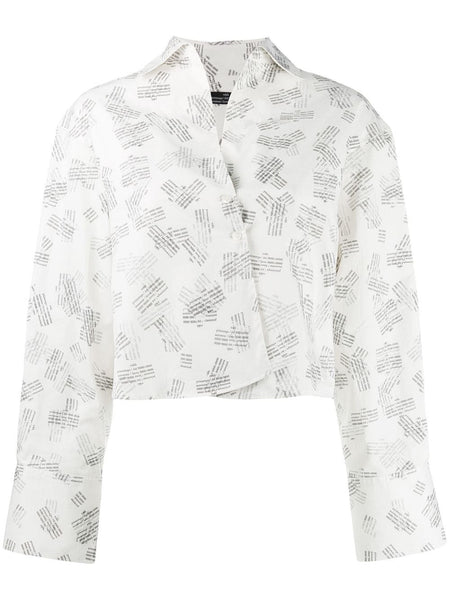 CROSSOVER COLLAR SHIRT 191 WHITE
