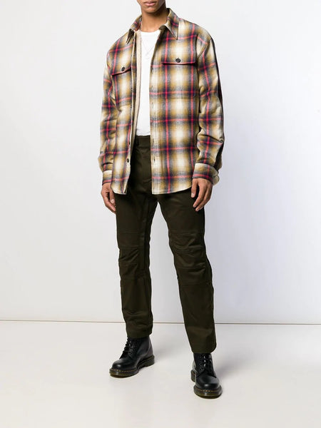 PLAID SHIRT RED LINES