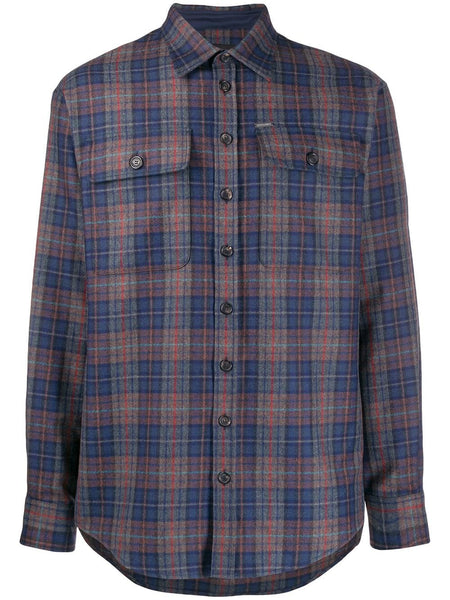 PLAID SHIRT GREY LINES