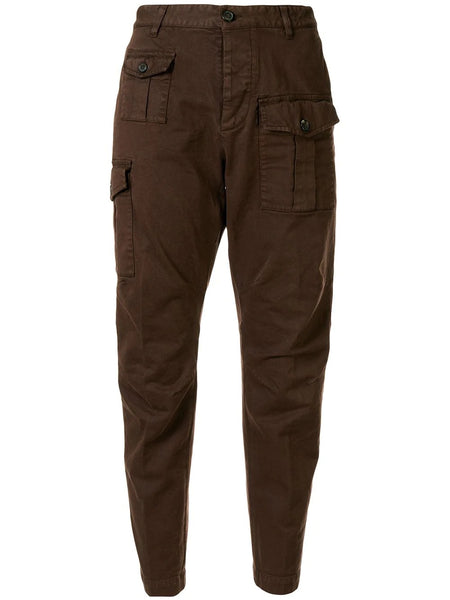 MALE WOVEN PANTS TAPERED CARGO TROUSERS