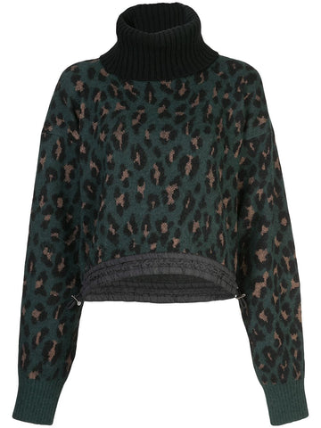 LEOPARD KNIT PULLOVER
