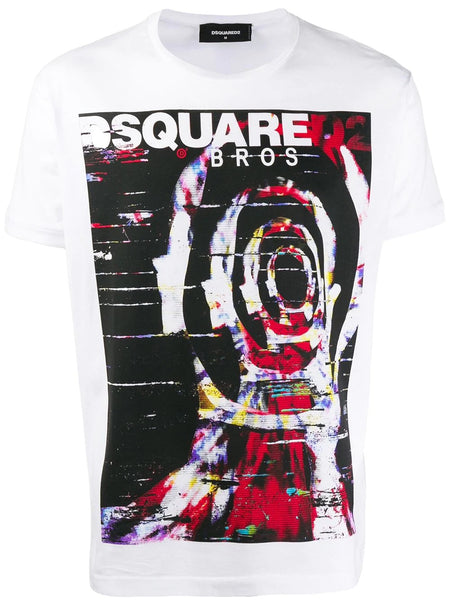 MALE KNIT T-SHIRT DSQUARED2 - printed logo T-shirt