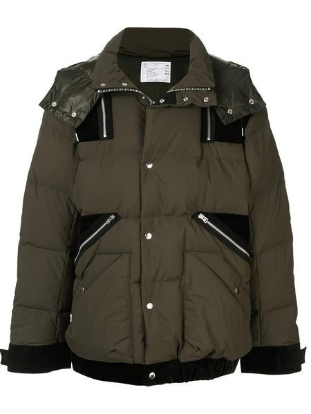 LAYERED PADDED DOWN JACKET