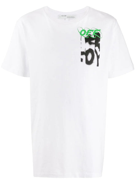 SPRAY BLURRED S/S SLIM TEE
