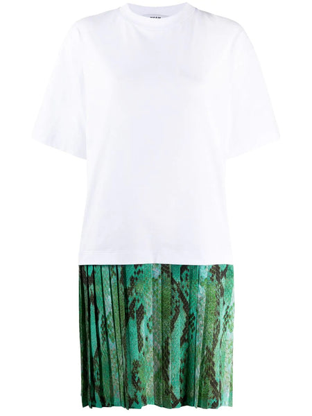 PLEATED SKIRT T-SHIRT DRESS