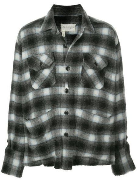 BLACK & BLUE PLAID BOXY STU
