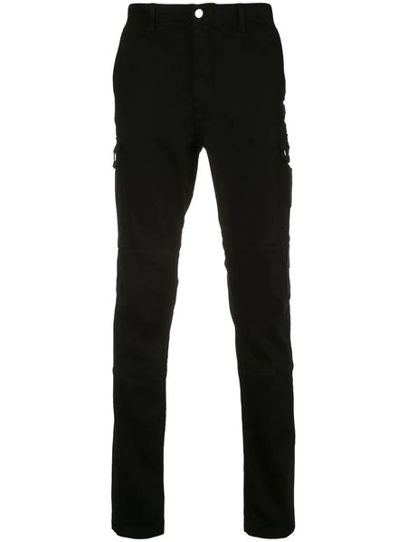 SLIM FIT CARGO PANTS BLACK