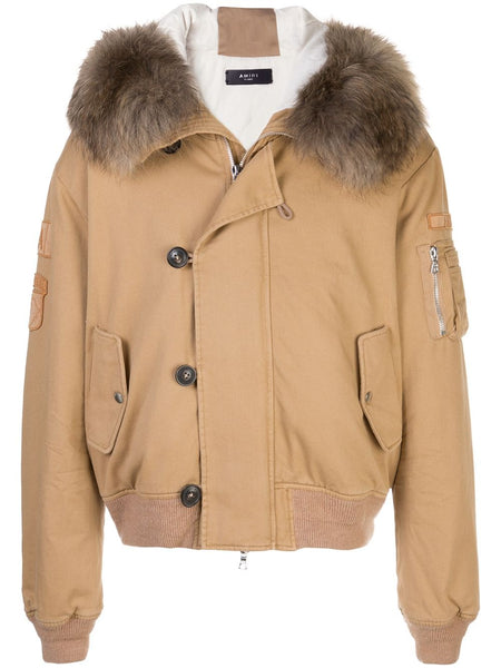 FAUX FUR HOODED BOMBER JACKET CAPPOTTI
