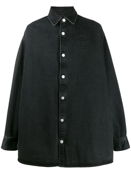 BIG FIT DENIM SHIRT WITH EMBRODERY