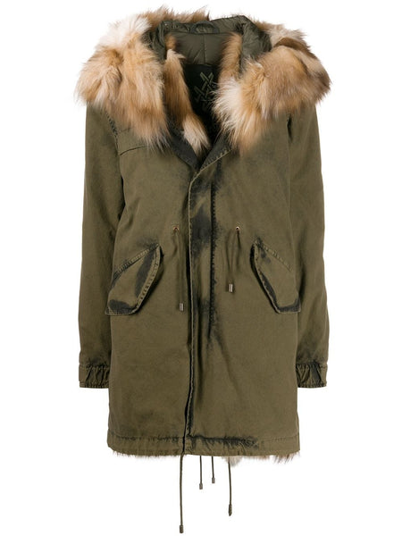 TEXTURED HOOD PARKA COAT
