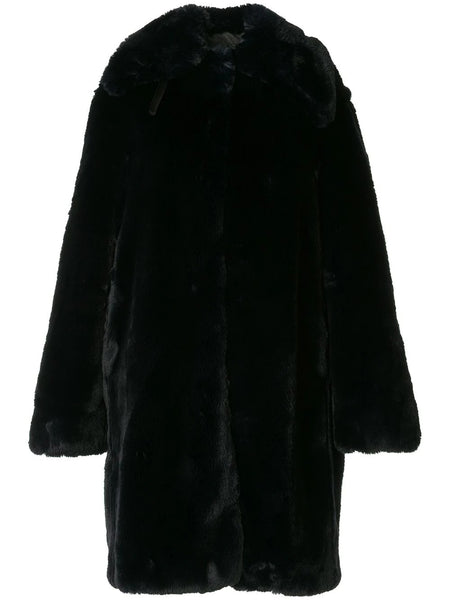 FAUX FUR COAT 06 NAVY