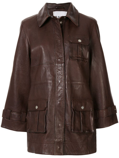 GRAIN LEATHER JACKET 3 POCKTS