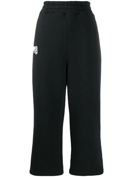 OVERSIZED WIDE LEG TRACK PANTS BLACK