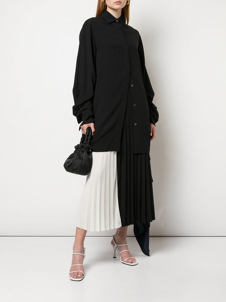 POPLIN PLEAT BACK SHIRT