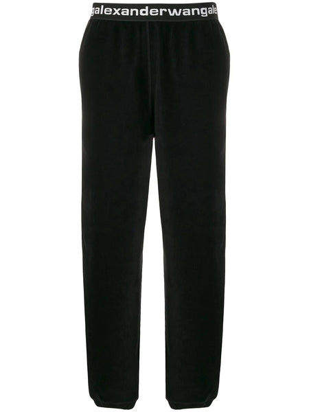STRETCH LOGO BAND CORDUROY TROUSERS