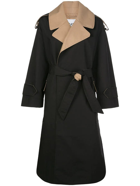 BELTED TRENCH DOUBLE COTTON