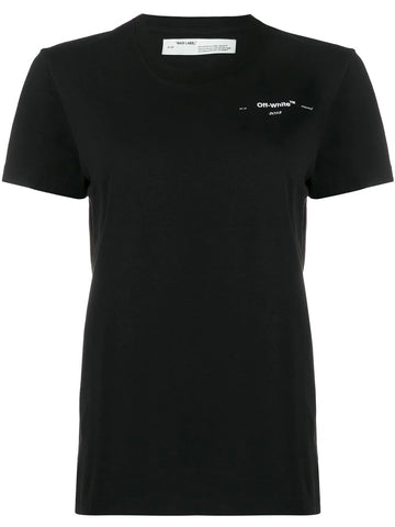 CORALS PRINT CASUAL TEE BLK/WHT