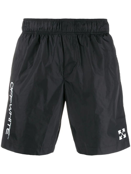 OW SWIM BERMUDA BLACK WHITE
