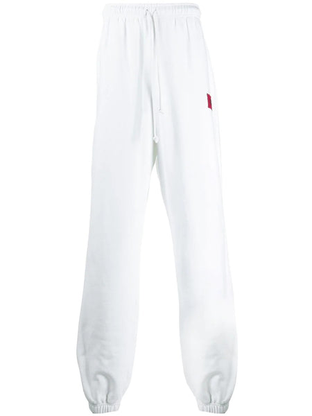 WIDE LEG LOGO TRACK PANTS