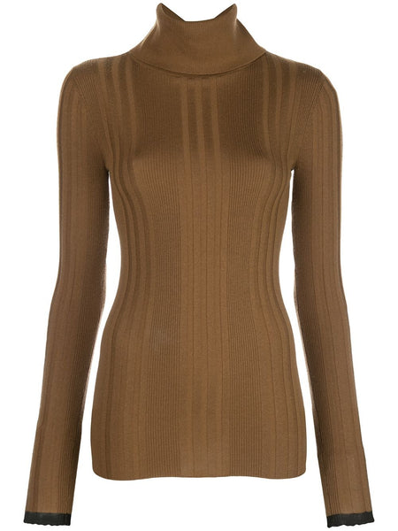 SILK CASHMERE TURTLENECK KNITTED TOP