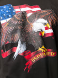 FALCON ON USA FLAG PRINTED T-SHIRT