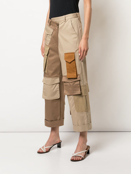 CARGO PATCH POCKET CROPPED PANT
