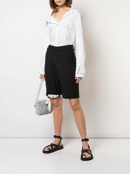 UPSIDE DOWN RIBBON HEM SHORTS