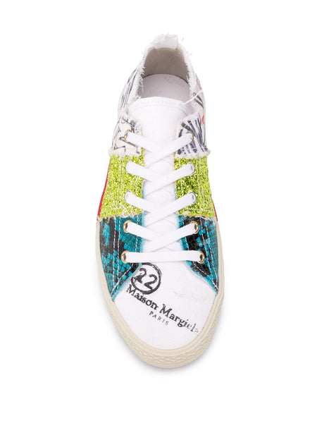 GRAFFITI LOW-TOP SNEAKERS MULTI