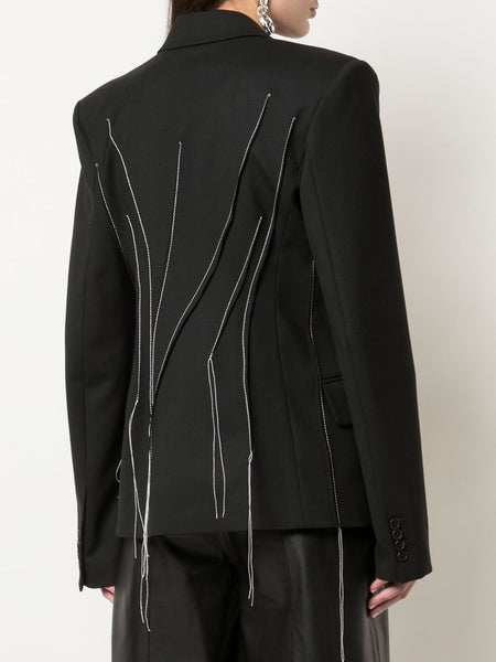 FALLING THREADS FITTED JACKET